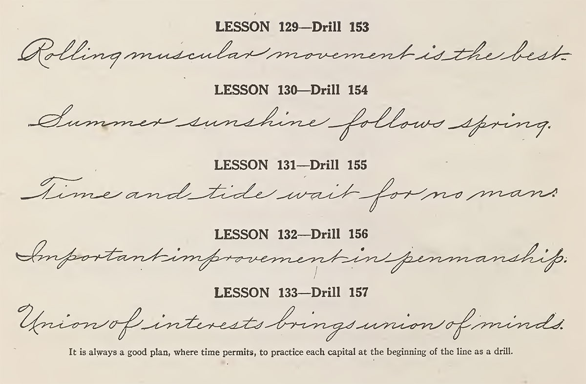 Sentence lessons from The Palmer Method of Business Writing
