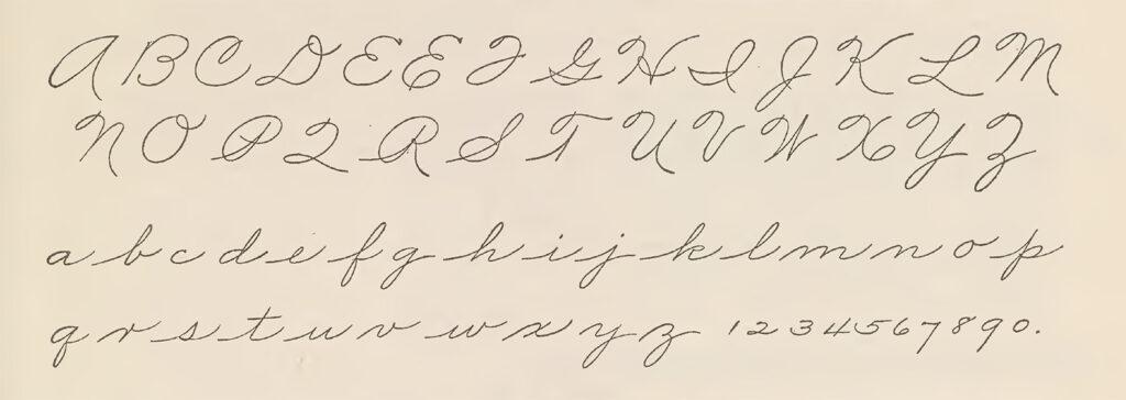 The Palmer Method Exemplar Alphabet